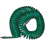 Шланг спиральный для пневмоинструмента 8х12ммх20м с переходниками