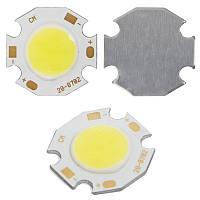 Светодиодный модуль COB LED 7 Вт (холодный белый, 650 лм, 20 мм)