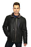 Дубленка мужская Oscar Fur  313 Темно- коричневый