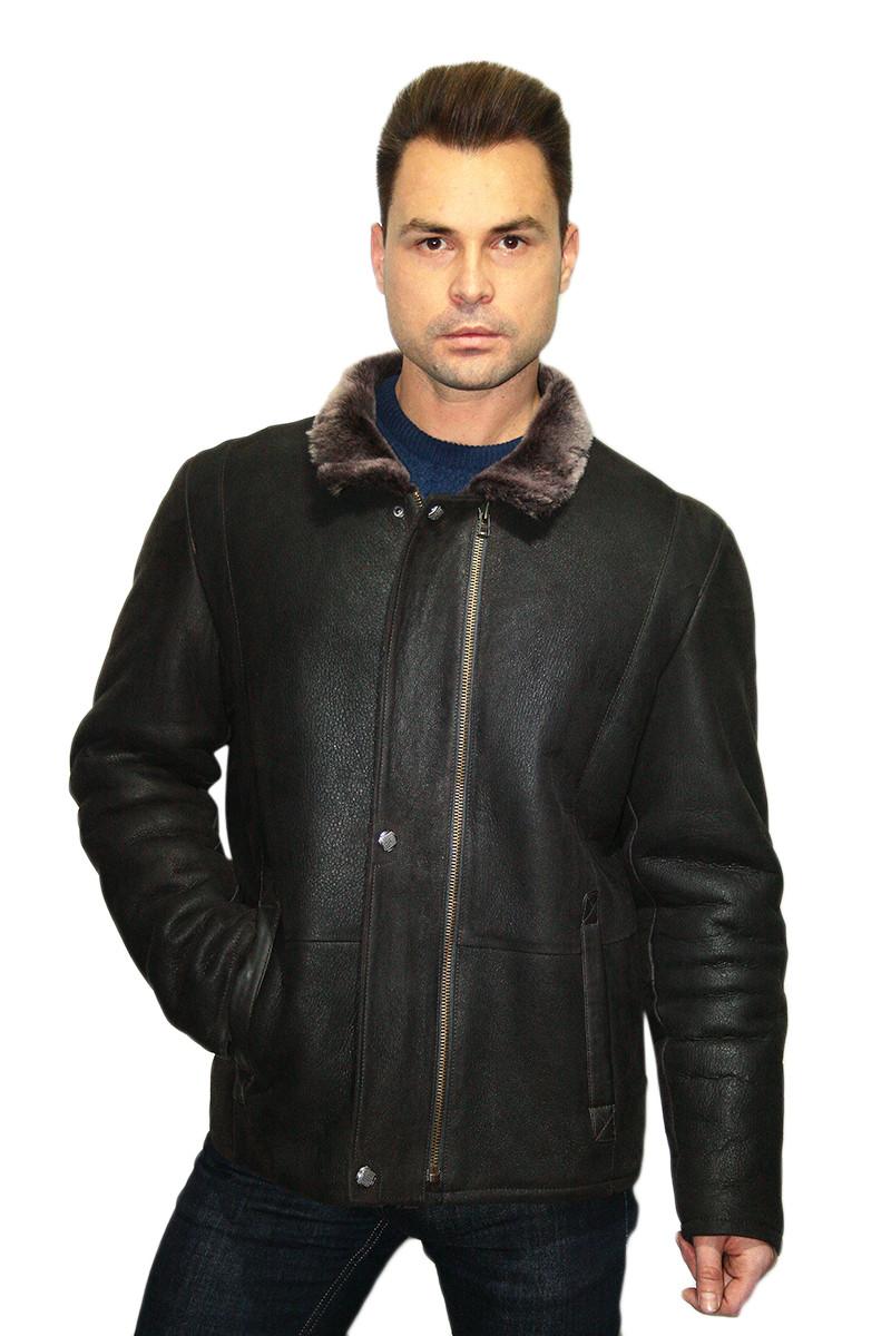 Дубленка мужская Oscar Fur  313 Темно- коричневый , фото 1