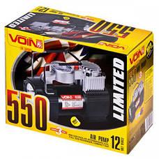 Компрессор VOIN VL-550 150psi, 15A, 40л, прикуриватель, фонарь, дефлятор, переходник на клеммы, фото 2