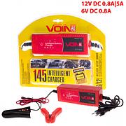 Зарядное устр-во VOIN VL-145 6-12V/0.8-5A/2-110AHR/LED индик.