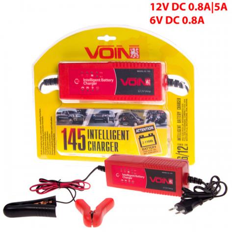 Зарядное устр-во VOIN VL-145 6-12V/0.8-5A/2-110AHR/LED индик., фото 2