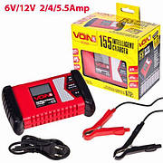 Зарядное устройство VOIN VL-155 6-12V, 2-4-5,5A, 4-120AHR, LCD, импульсное