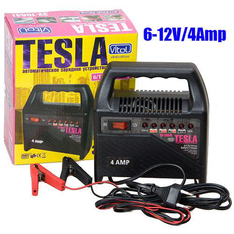 Зарядное устр-во TESLA ЗУ-10641 6-12V/4A/10-60AHR/светодиодн.индик., фото 2