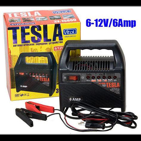 Зарядное устр-во TESLA ЗУ-15860 6-12V/6A/15-80AHR/светодиодн.индик., фото 2