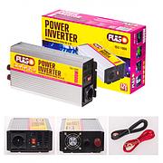 Преобраз. напряжения PULSO/ISU-1000/12V-220V/1000W/USB-5VDC0.5A/син.волна/клеммы