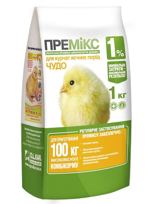 """Премикс """"Чудо"""" 1% для цыплят 1кг O.L.KAR."""
