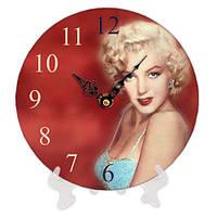 Часы настенные с принтом Монро 18 см