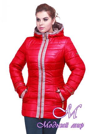 Женская весенняя куртка большого размера (р. 48-64) арт. Инара, фото 2