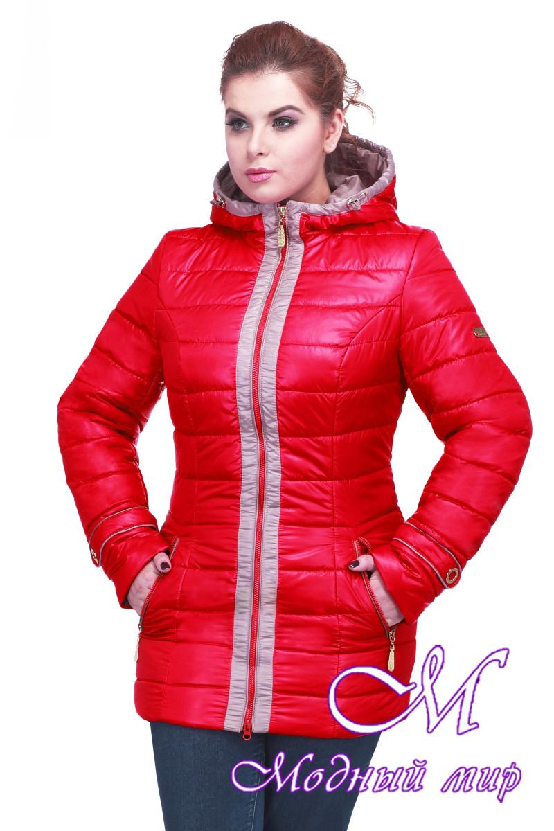 Женская весенняя куртка большого размера (р. 48-64) арт. Инара