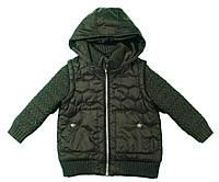 Куртка с вязаным рукавом