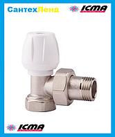 Кран радиаторный верхний угловой 3/4 ICMA 803