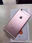 Cмартфон Apple iPhone 6s 16GB Rose Gold Оригинал Neverlock Гарантия 6 мес+стекло и чехол, фото 2