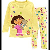 Пижама для девочки Дора путешественница. Дора и мишка