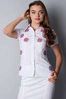 Блузка вышиванка с коротким рукавом Р60