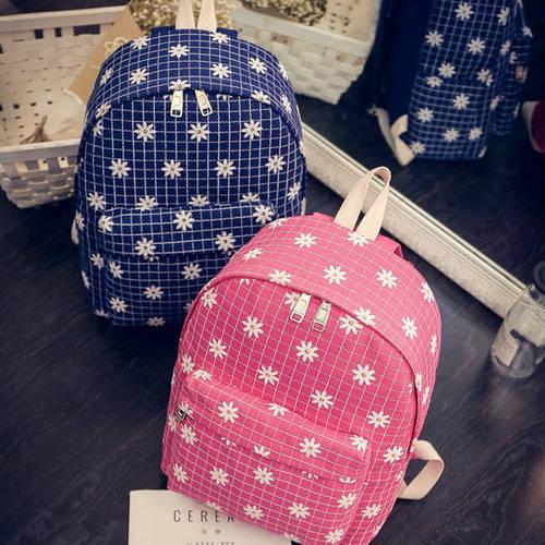 Женский рюкзак в ромашках