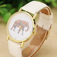 Часы наручные женские, браслет белого цвета