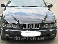 Дефлектор капота (мухобойка) BMW 5 серии (39 кузов) 1995-2003, на крепежах