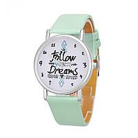 Стильные наручные часы женские , цвет мята