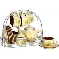 Набор для чая Цветник 15 предметов