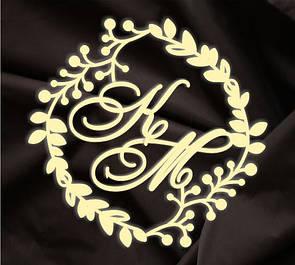 Фамильный герб, монограмма молодоженов
