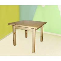 Детский столик из сосны квадратный