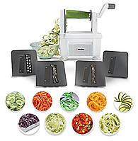Профессиональный спиральный нарезчик овощей Müeller с 4 лезвиями. Качество. Новый дизайн., фото 1