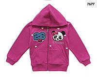 """Утепленная кофта """"Панда"""" для девочки. 98, 104 см"""
