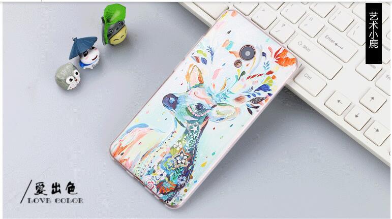 Оригинальный чехол панель накладка для Meizu M3e с картинкой олень красками