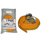 Трос буксир ST205B/TP-207-3-1 3т лента 46мм х 6м желтый/крюк/кулек
