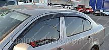 Вітровики вікон Шкода Октавія А5 (дефлектори бокових вікон Skoda Octavia A5)