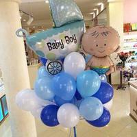 Букет гелиевых шариков и фольгированные шары с гелием