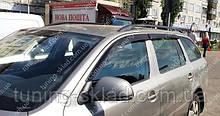 Вітровики вікон Шкода Октавія А5 Комбі (дефлектори бокових вікон Skoda Octavia A5 Combi)