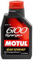Моторное масло Motul 6100 Synerg + 10W40 1L, МАСЛО, 839411
