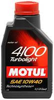 Моторное масло Motul 4100 T-light 10W40 1L, МАСЛО, 387601