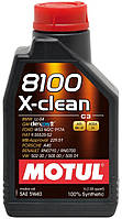 Моторное масло Motul 8100 X-clean SAE 5W40 1L, МАСЛО, 854111