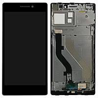 Модуль (дисплей + сенсор) Lenovo Vibe X2 black original with frame