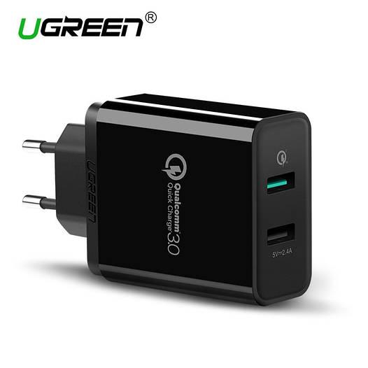 Ugreen Qualcomm Quick charge 3.0 Dual USB зарядное устройство
