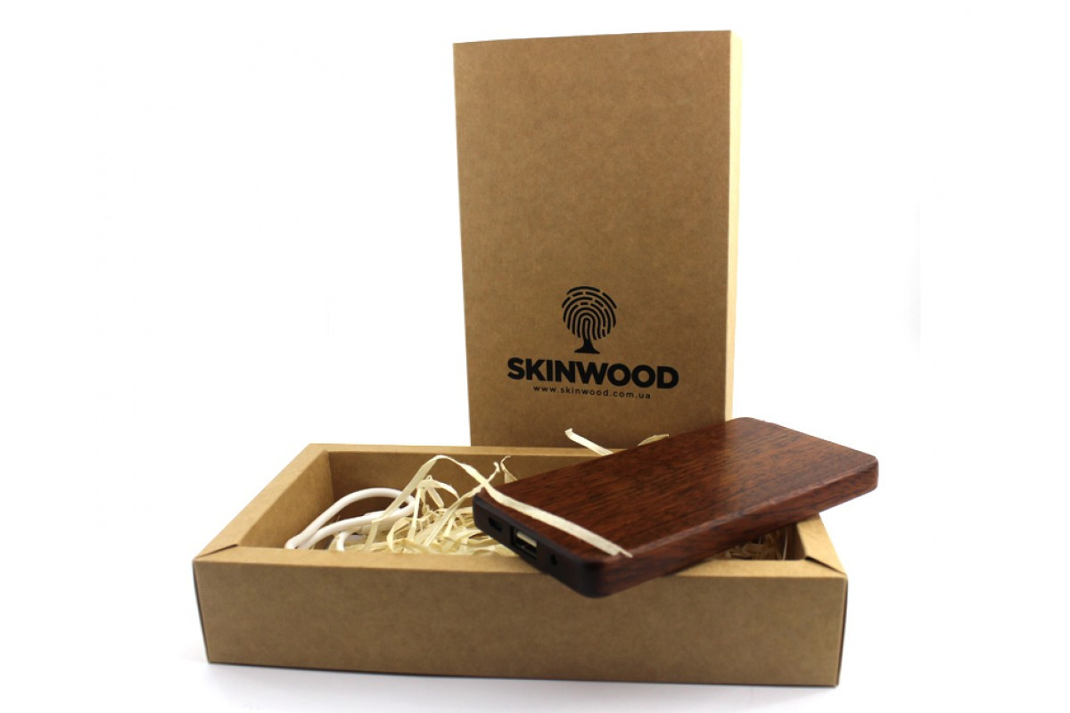 Эксклюзивный деревянный портативный аккумулятор Американский орех