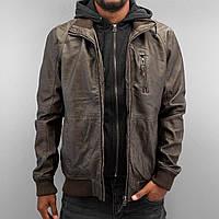 Мужская кожаная зимняя куртка коричневого цвета Dallas Jacket Turkish Coffee от !Solid (Дания)  в размере L