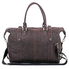 Шкіряна дорожня сумка З-5 коричнева