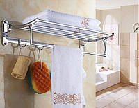 Полочка в ванную с вешалкой крючками и откидным верхом 0249, фото 1