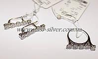 Комплект украшений серебряный Пенелопа