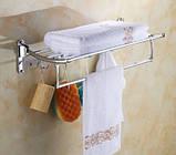 Поличка у ванну з вішалкою гачками і відкидним верхом 0249, фото 4