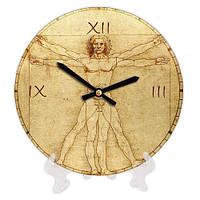 Часы настольные с принтом Витрувианский человек 18 см