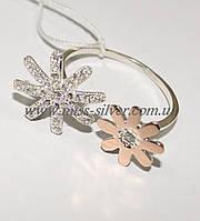 Кольцо из серебра с золотом и цирконами Аманда
