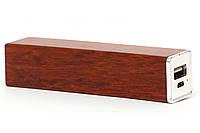 Эксклюзивный деревянный портативный аккумулятор брусок Макоре