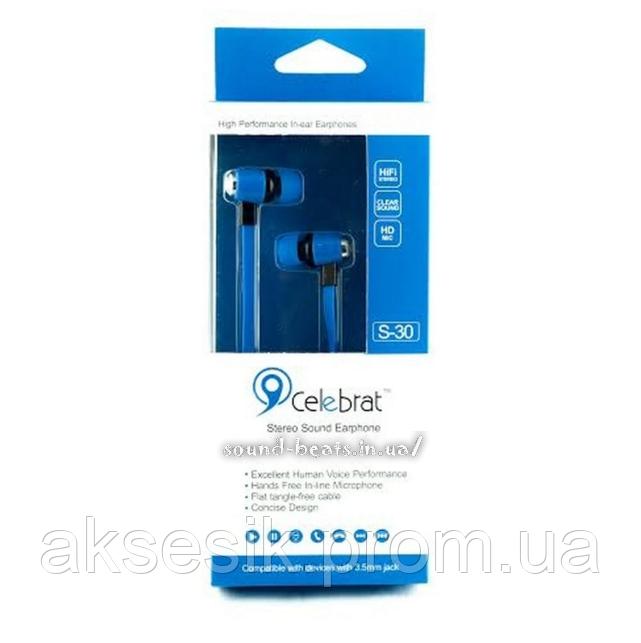 Наушники Celebrat S90 внутриканальные, цвет: голубой