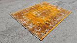 Штучно витертий класичний яскраво помаранчевий вінтажний килим, фото 2